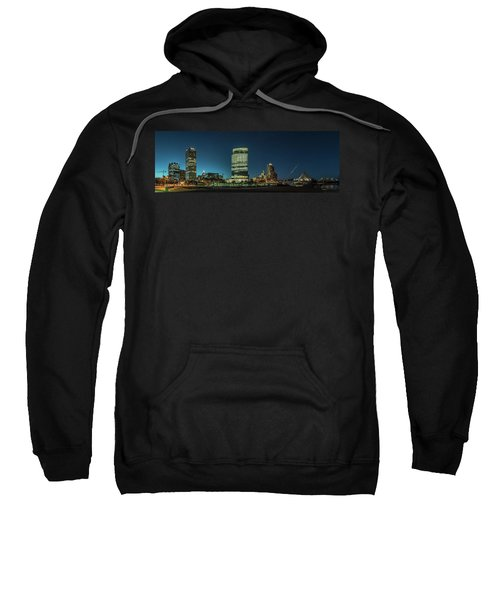 Sweatshirt featuring the photograph New Milwaukee Skyline by Randy Scherkenbach