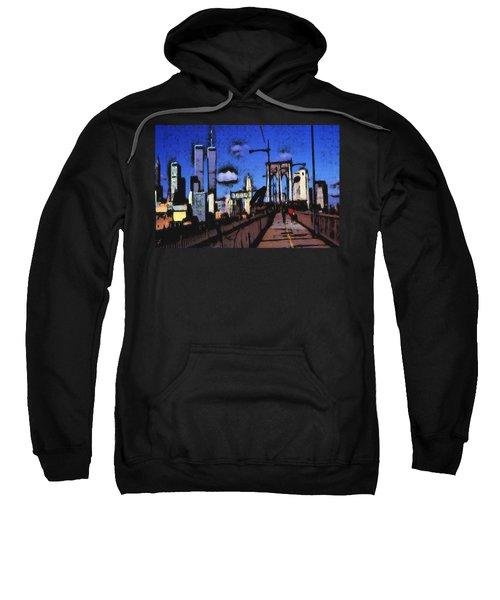 New York Blue - Modern Art Painting Sweatshirt