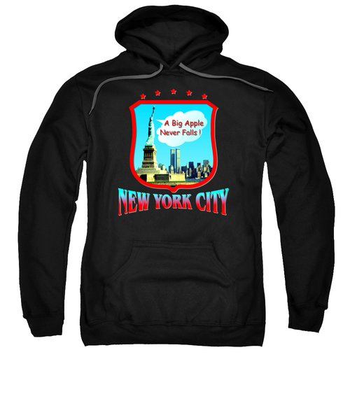 New York City Big Apple - Tshirt Design Sweatshirt by Art America Online Gallery