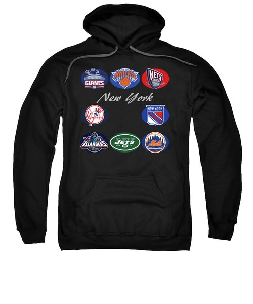 New York Professional Sport Teams Collage  Sweatshirt by Movie Poster Prints