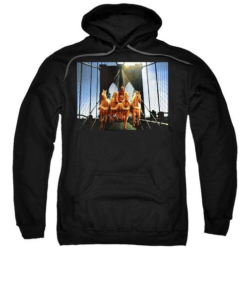 New York Brooklyn Bridge Fantasy Collage Sweatshirt