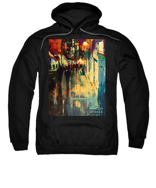Night Alleyway Sweatshirt