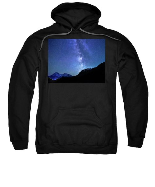 Night Sky In David Thomson Country Sweatshirt