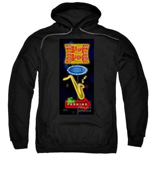 Nightclub Sign Boom Boom Room Sweatshirt