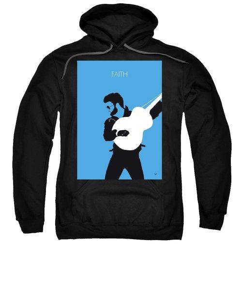No089 My George Michael Minimal Music Poster Sweatshirt