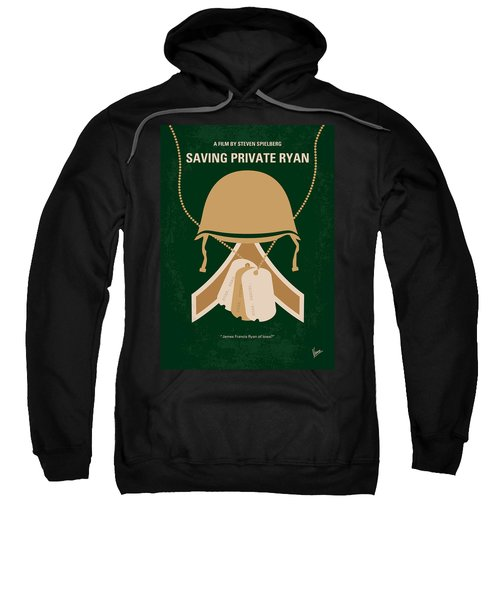 No520 My Saving Private Ryan Minimal Movie Poster Sweatshirt