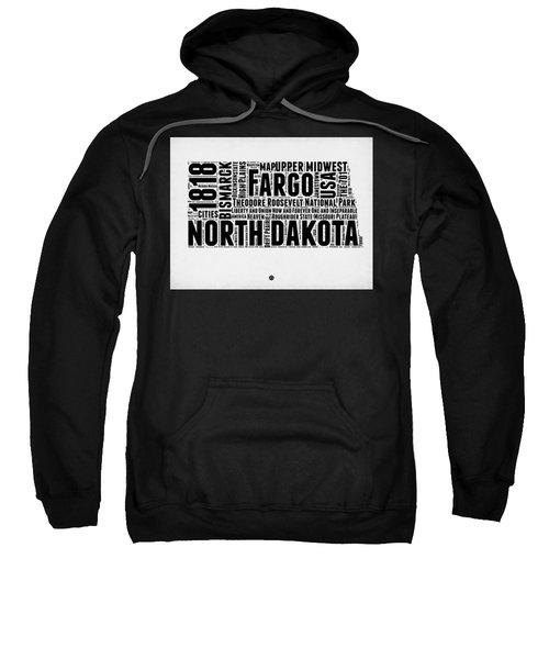 North Dakota Word Cloud 2 Sweatshirt