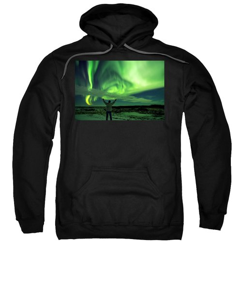 Northern Light In Western Iceland Sweatshirt