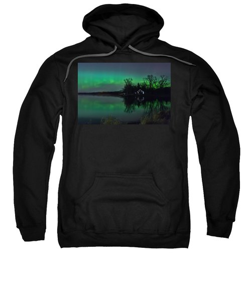 Northern Lights At Gull Lake Sweatshirt