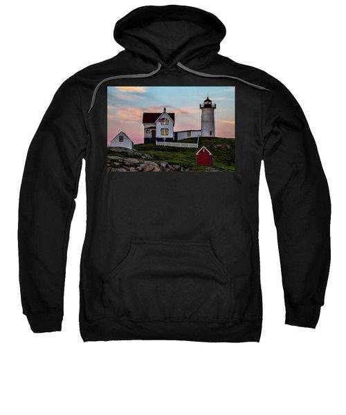 Nubble Lighthouse At Dusk  Sweatshirt