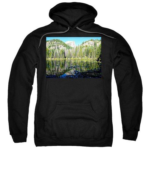 Nymph Lake And Flattop Mountain Sweatshirt