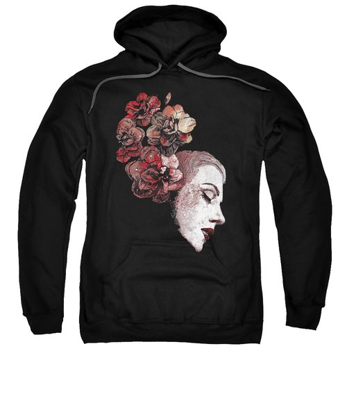Obey Me - Blood - Graffiti Flower Lady Portrait Sweatshirt