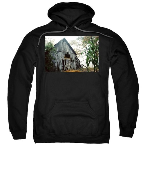 Old Barn In The Morning Mist Sweatshirt