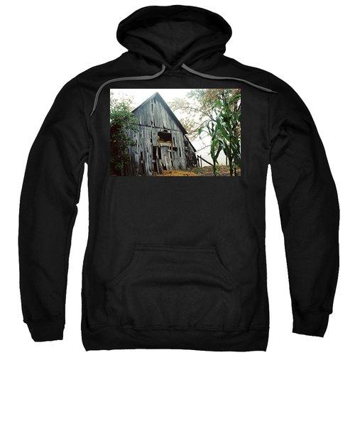 Old Barn In The Morning Mist Sweatshirt