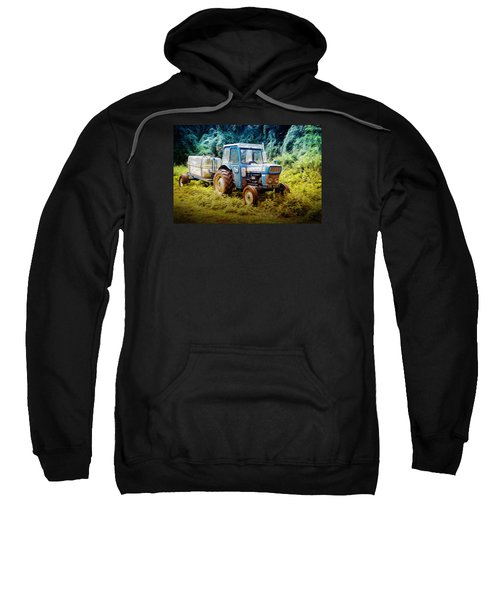 Old Blue Ford Tractor Sweatshirt