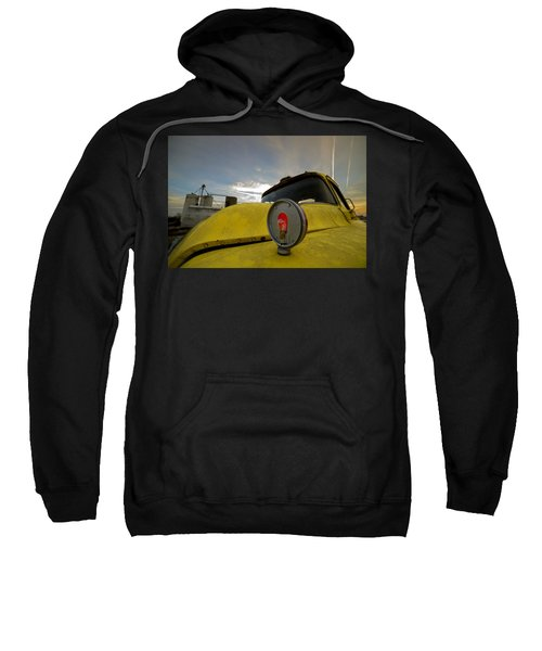 Old Chevy Truck With Grain Elevators In The Background Sweatshirt