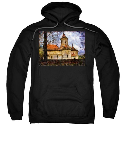 Old Church With Red Roof Sweatshirt