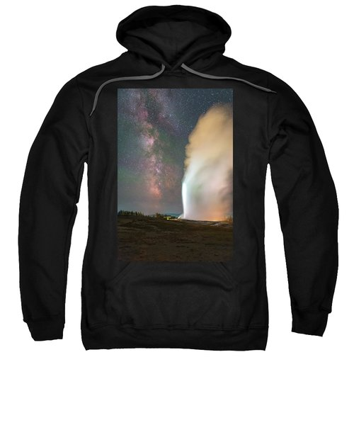 Old Faithful Erupts At Night Sweatshirt