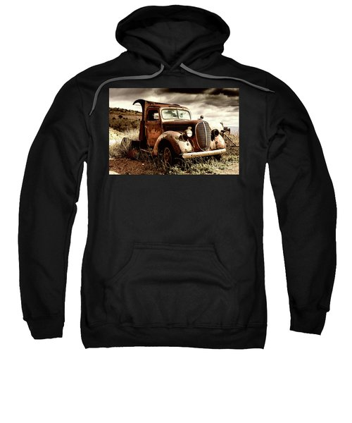 Old Ford Truck In Desert Sweatshirt