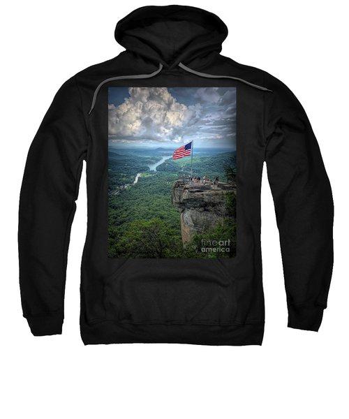 Old Glory On The Rock Sweatshirt