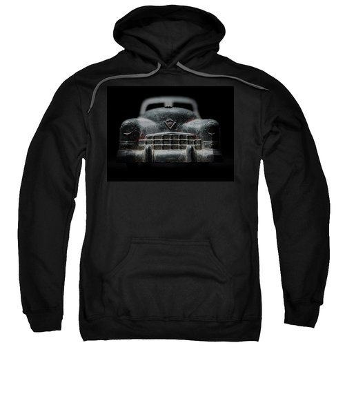 Old Silver Cadillac Toy Car With Specks Of Red Paint Sweatshirt