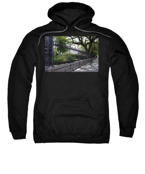 Old Tree And Ornate Fence Sweatshirt