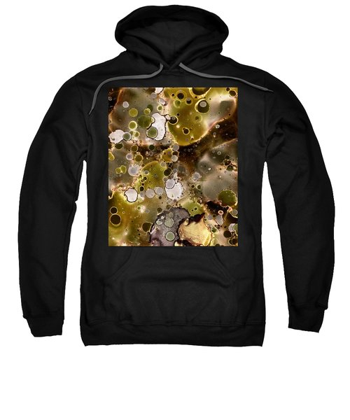 Olive Metal Abstract Sweatshirt