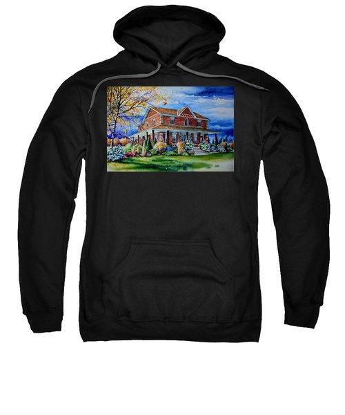 Sweatshirt featuring the painting Ontario House Portrait  by Hanne Lore Koehler