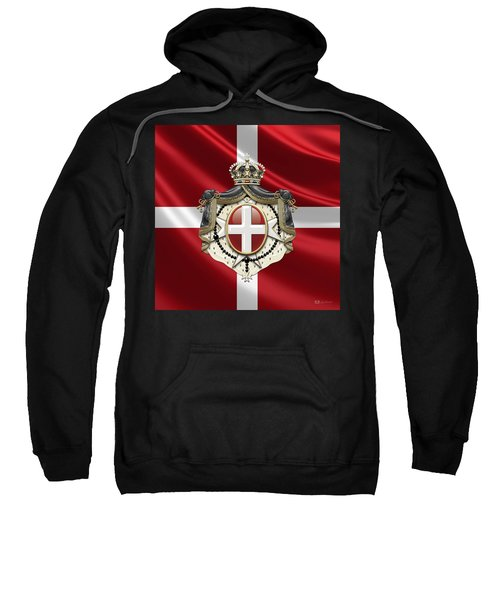 Order Of Malta Coat Of Arms Over Flag Sweatshirt
