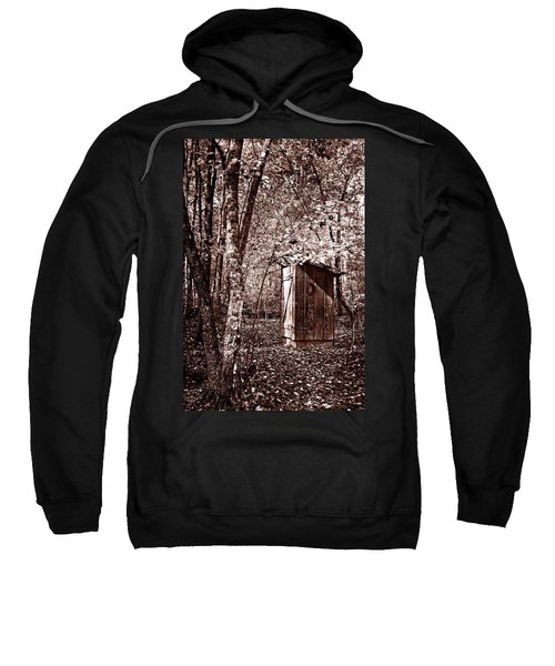 Outhouse In The Forest In Sepia Sweatshirt