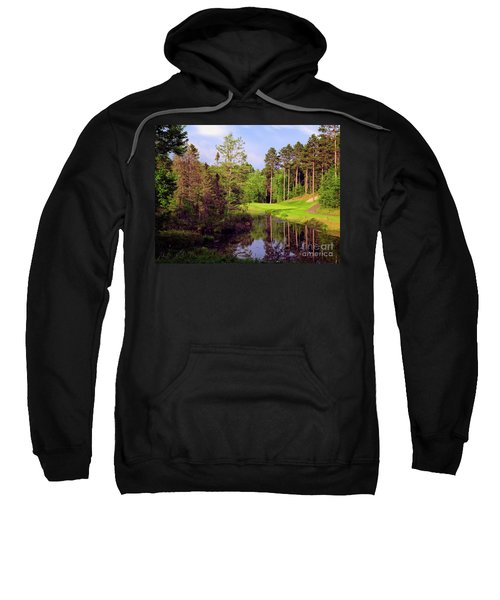 Sweatshirt featuring the photograph Over The Pond by Scott Kemper