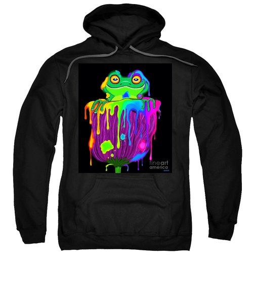 Painted Flower Frog  Sweatshirt