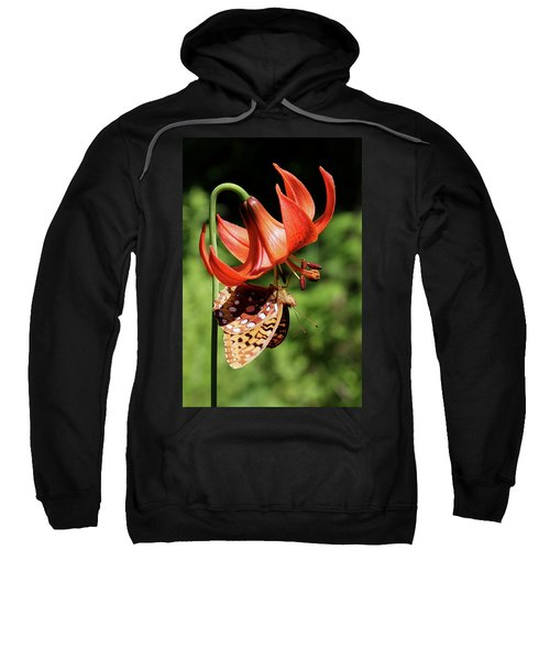 Painted Lady On Lily Sweatshirt