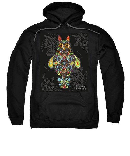 Paisley Owl Sweatshirt