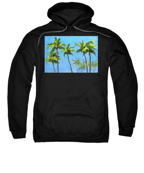 Palm Tree Plein Air Painting Sweatshirt
