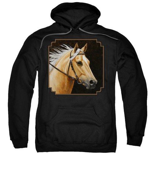 Palomino Horse Portrait Sweatshirt by Crista Forest