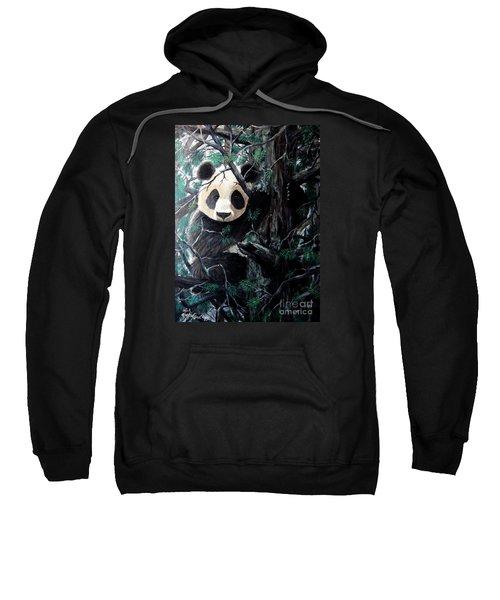 Panda In Tree Sweatshirt