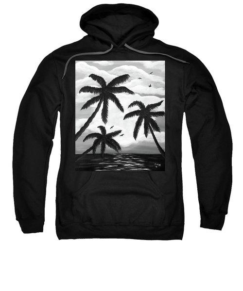 Paradise In Black And White Sweatshirt
