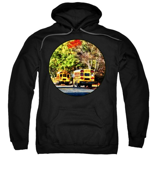 Parked School Buses Sweatshirt
