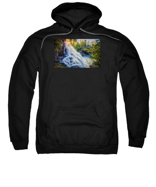 Sweatshirt featuring the photograph Partridge Falls In Late Afternoon by Rikk Flohr