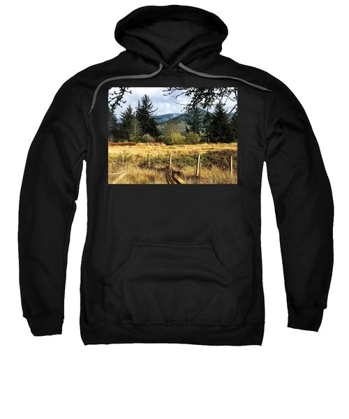 Pasture, Trees, Mountains Sky Sweatshirt
