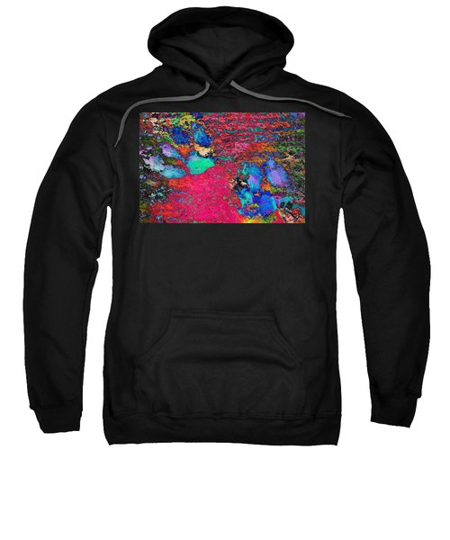 Paw Prints Colour Explosion Sweatshirt