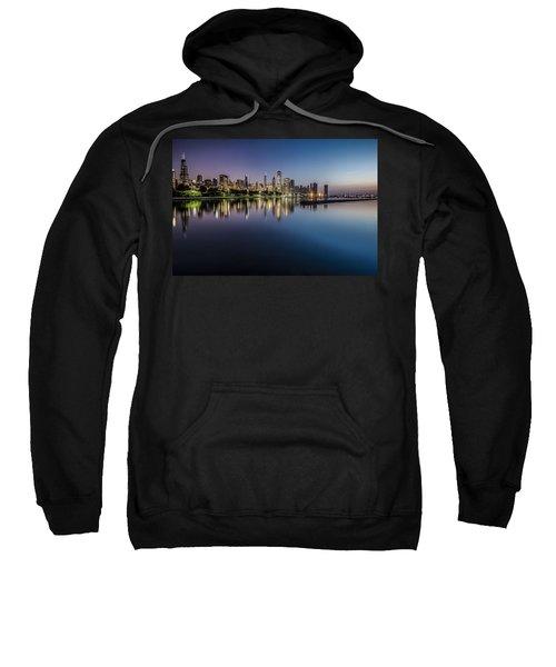 Peaceful Summer Dawn Scene On Chicago's Lakefront Sweatshirt