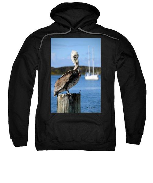 Pelican On A Post Morro Bay California Sweatshirt