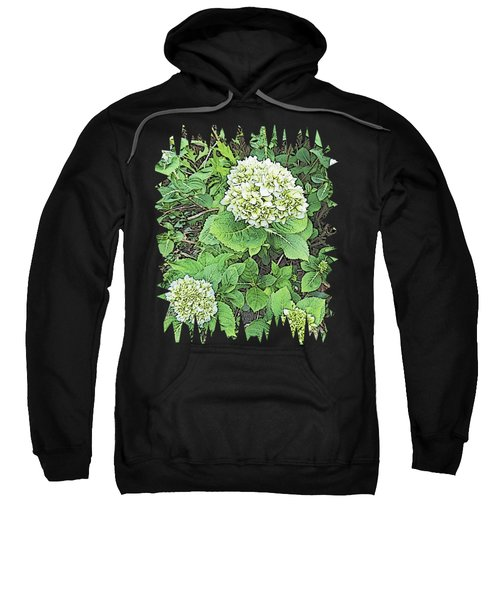 Pencil Sketch Hydrangea With Jagged Edges Sweatshirt