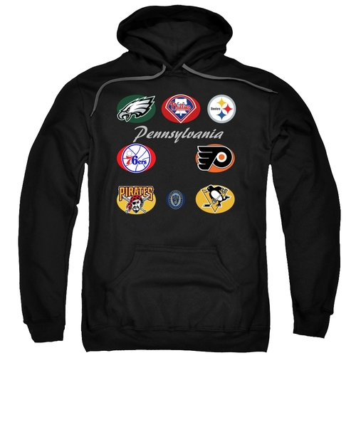 Pennsylvania Professional Sport Teams Collage  Sweatshirt by Movie Poster Prints