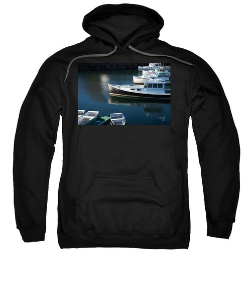 Perkins Cove Lobster Boats One Sweatshirt