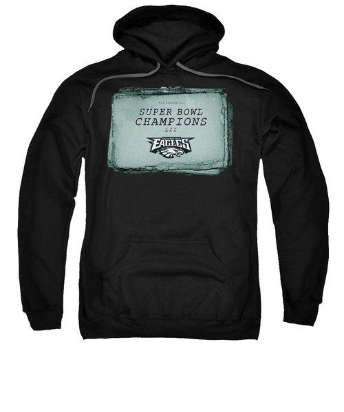 Philadelphia Eagles Super Bowl Champions  L I I  Playbook With Transparent Background Sweatshirt