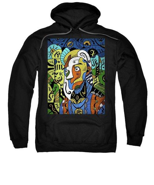 Sweatshirt featuring the digital art Philosopher by Sotuland Art