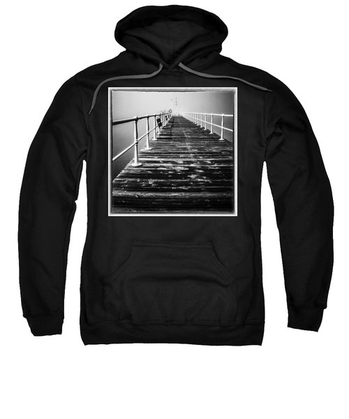 Pier At Pooley Bridge On Ullswater In The Lake District Sweatshirt